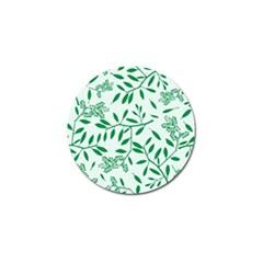 Leaves Foliage Green Wallpaper Golf Ball Marker (10 Pack) by Nexatart