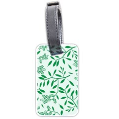 Leaves Foliage Green Wallpaper Luggage Tags (two Sides) by Nexatart
