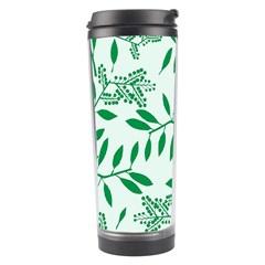 Leaves Foliage Green Wallpaper Travel Tumbler by Nexatart