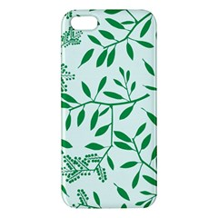 Leaves Foliage Green Wallpaper Iphone 5s/ Se Premium Hardshell Case by Nexatart