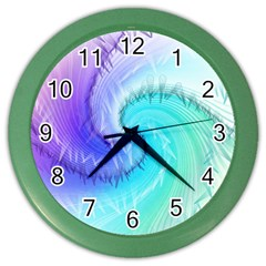 Background Colorful Scrapbook Paper Color Wall Clocks by Nexatart