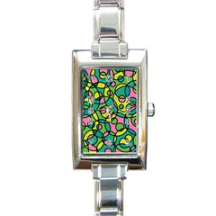 Circle Background Background Texture Rectangle Italian Charm Watch by Nexatart