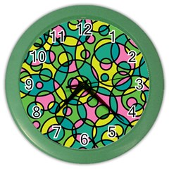 Circle Background Background Texture Color Wall Clocks by Nexatart
