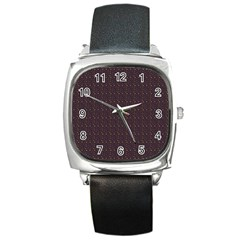 Pattern Background Star Square Metal Watch by Nexatart