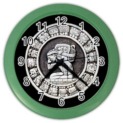 Pattern Motif Decor Color Wall Clocks by Nexatart