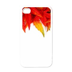 Abstract Autumn Background Bright Apple Iphone 4 Case (white) by Nexatart