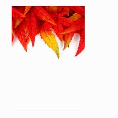 Abstract Autumn Background Bright Large Garden Flag (two Sides) by Nexatart