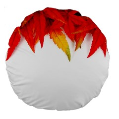 Abstract Autumn Background Bright Large 18  Premium Round Cushions by Nexatart