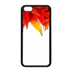 Abstract Autumn Background Bright Apple Iphone 5c Seamless Case (black) by Nexatart