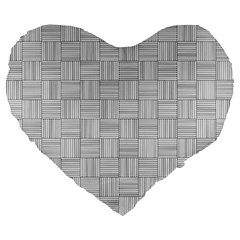 Flooring Household Pattern Large 19  Premium Heart Shape Cushions by Nexatart