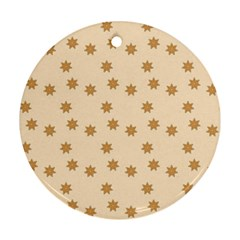Pattern Gingerbread Star Ornament (round) by Nexatart