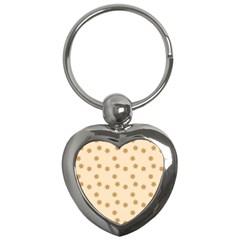 Pattern Gingerbread Star Key Chains (heart)  by Nexatart