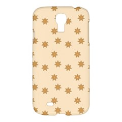 Pattern Gingerbread Star Samsung Galaxy S4 I9500/i9505 Hardshell Case by Nexatart