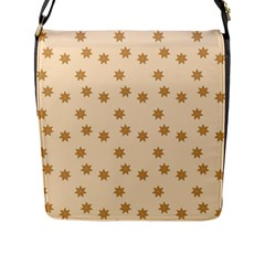 Pattern Gingerbread Star Flap Messenger Bag (l)  by Nexatart