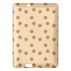 Pattern Gingerbread Star Kindle Fire Hdx Hardshell Case by Nexatart