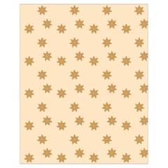 Pattern Gingerbread Star Drawstring Bag (small) by Nexatart