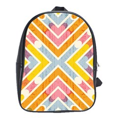 Line Pattern Cross Print Repeat School Bags(large)  by Nexatart
