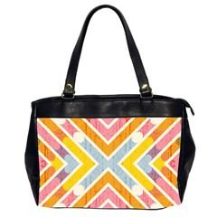 Line Pattern Cross Print Repeat Office Handbags (2 Sides)  by Nexatart
