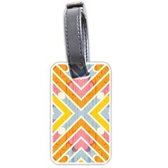Line Pattern Cross Print Repeat Luggage Tags (one Side)  by Nexatart