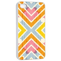 Line Pattern Cross Print Repeat Apple Iphone 4/4s Seamless Case (white) by Nexatart