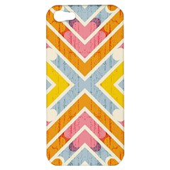 Line Pattern Cross Print Repeat Apple Iphone 5 Hardshell Case by Nexatart