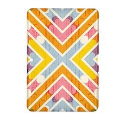 Line Pattern Cross Print Repeat Samsung Galaxy Tab 2 (10 1 ) P5100 Hardshell Case  by Nexatart