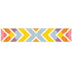 Line Pattern Cross Print Repeat Flano Scarf (large) by Nexatart