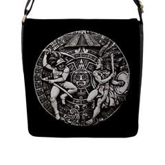 Pattern Motif Decor Flap Messenger Bag (l)  by Nexatart