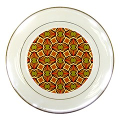 Geometry Shape Retro Trendy Symbol Porcelain Plates by Nexatart