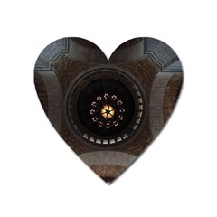 Pattern Design Symmetry Up Ceiling Heart Magnet by Nexatart