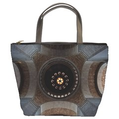 Pattern Design Symmetry Up Ceiling Bucket Bags by Nexatart