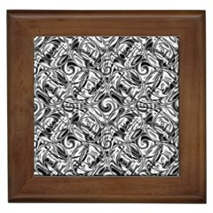 Gray Scale Pattern Tile Design Framed Tiles by Nexatart
