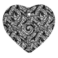 Gray Scale Pattern Tile Design Ornament (heart) by Nexatart