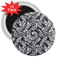 Gray Scale Pattern Tile Design 3  Magnets (10 Pack)  by Nexatart