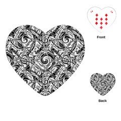 Gray Scale Pattern Tile Design Playing Cards (heart)  by Nexatart
