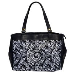 Gray Scale Pattern Tile Design Office Handbags by Nexatart
