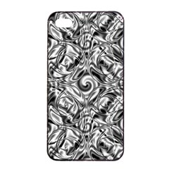 Gray Scale Pattern Tile Design Apple Iphone 4/4s Seamless Case (black) by Nexatart