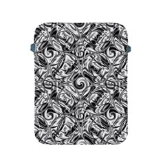 Gray Scale Pattern Tile Design Apple Ipad 2/3/4 Protective Soft Cases by Nexatart