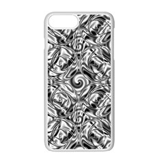 Gray Scale Pattern Tile Design Apple Iphone 7 Plus White Seamless Case by Nexatart