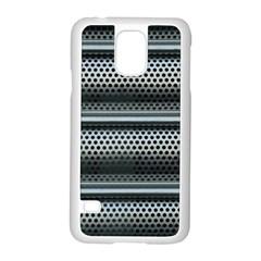 Sheet Holes Roller Shutter Samsung Galaxy S5 Case (white) by Nexatart