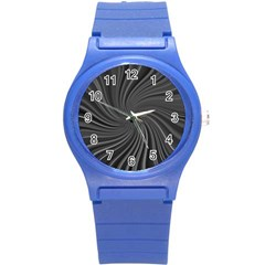 Abstract Art Color Design Lines Round Plastic Sport Watch (s) by Nexatart