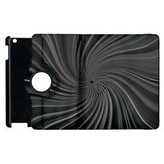 Abstract Art Color Design Lines Apple Ipad 3/4 Flip 360 Case by Nexatart