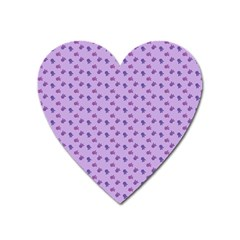 Pattern Background Violet Flowers Heart Magnet by Nexatart