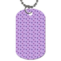 Pattern Background Violet Flowers Dog Tag (two Sides) by Nexatart