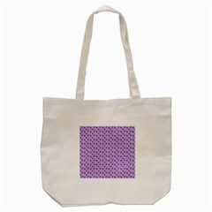 Pattern Background Violet Flowers Tote Bag (cream) by Nexatart