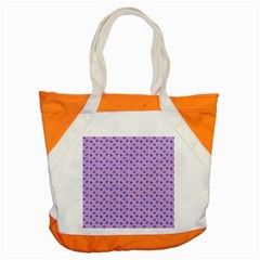 Pattern Background Violet Flowers Accent Tote Bag by Nexatart