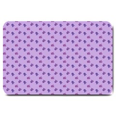 Pattern Background Violet Flowers Large Doormat  by Nexatart