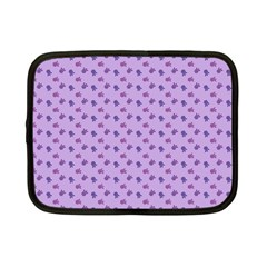 Pattern Background Violet Flowers Netbook Case (small)  by Nexatart