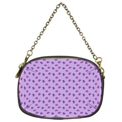Pattern Background Violet Flowers Chain Purses (one Side)  by Nexatart