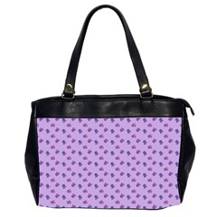 Pattern Background Violet Flowers Office Handbags (2 Sides)  by Nexatart